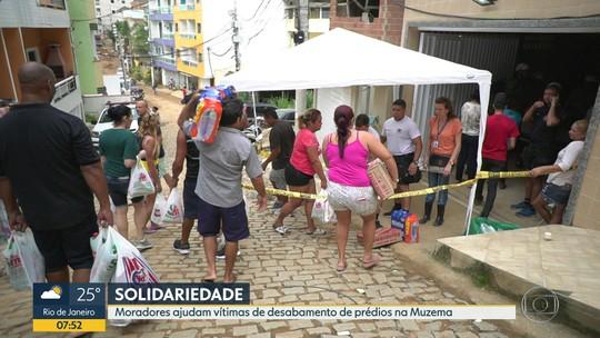 Cariocas se unem para ajudar famílias afetadas pelo desabamento na Muzema