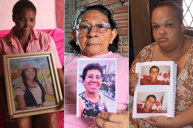 Parentes choram a morte de vítimas de balas perdidas (Foto: G1)