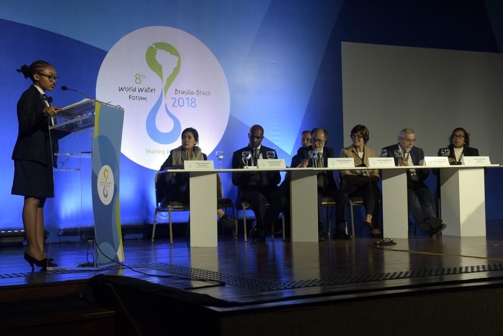 Atividade do Fórum Mundial da Água, em Brasília (Foto: Sérgio Amaral/8º FMA)
