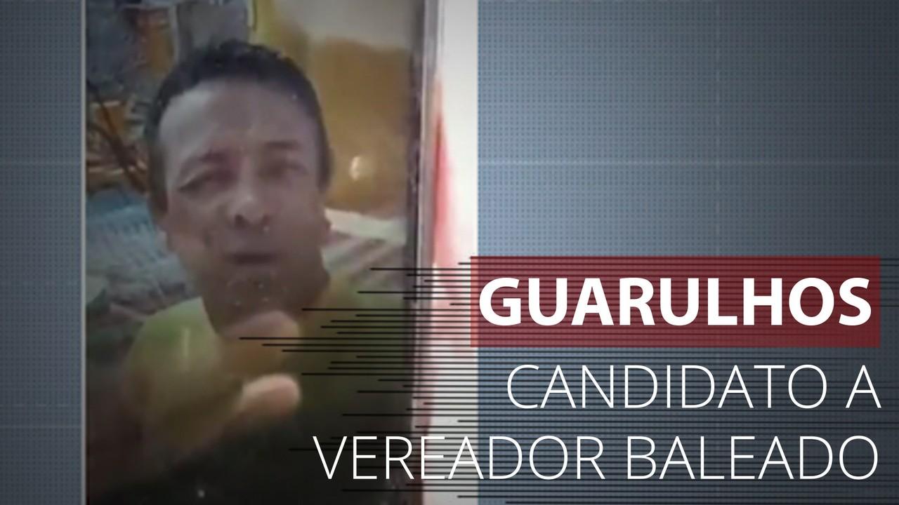 Vídeo mostra momento em que candidato a vereador é baleado em Guarulhos, SP