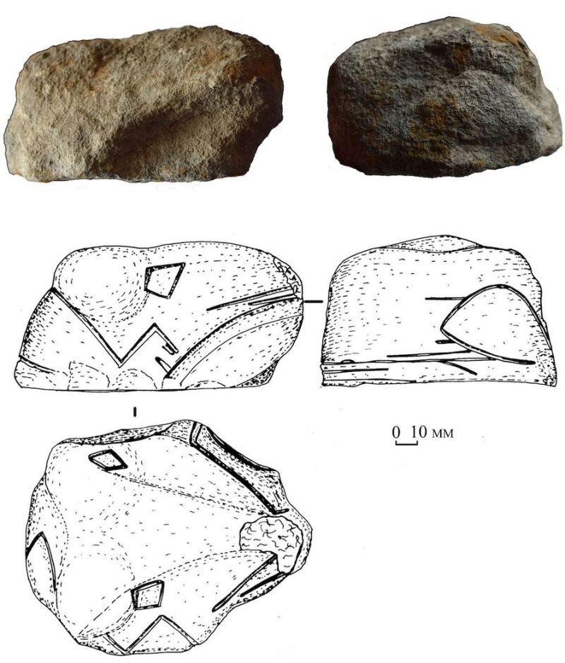 A cabeça de cobra mais antiga (Foto: Antiquity 2018; figure by N. Kotova)