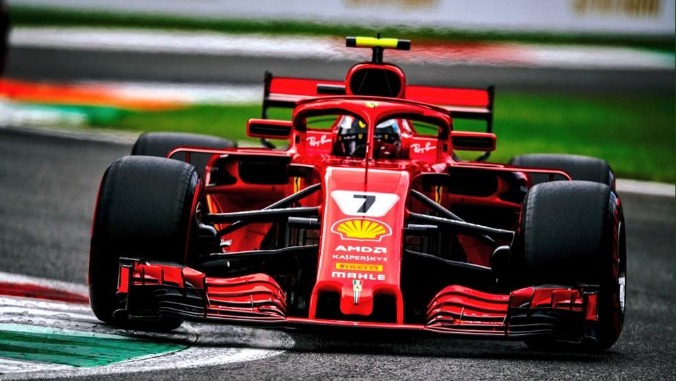 Kimi Raikkonen fez a pole mais rápida da história no GP da Itália de 2018 (Foto: Reprodução)