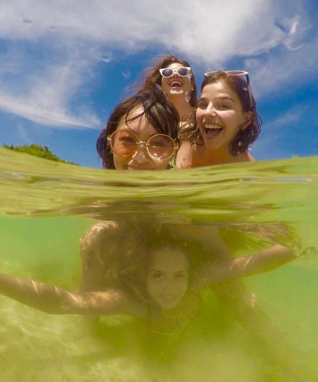 Ana Hikari, Giovanna Gigrio, Gabriela Medvedovski e Isabella Scherer (Foto: Ed.Globo/Ricardo Cardoso)