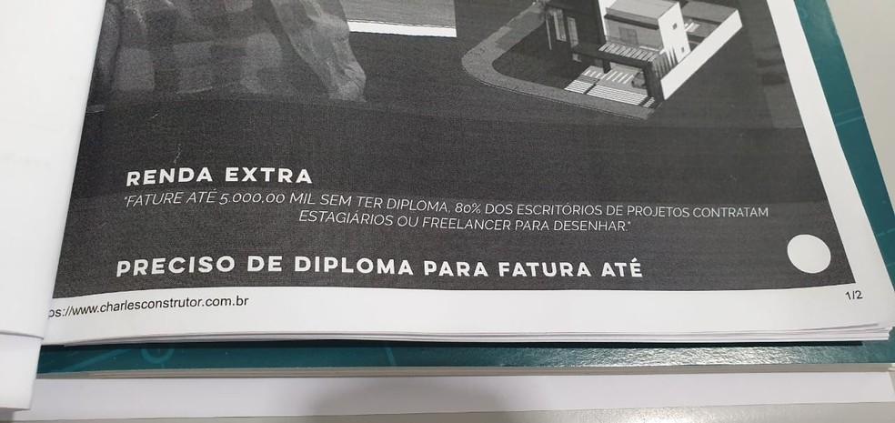 Polícia Civil autua falso arquiteto por exercício ilegal da profissão — Foto: Polícia Civil de Mato Grosso/Assessoria