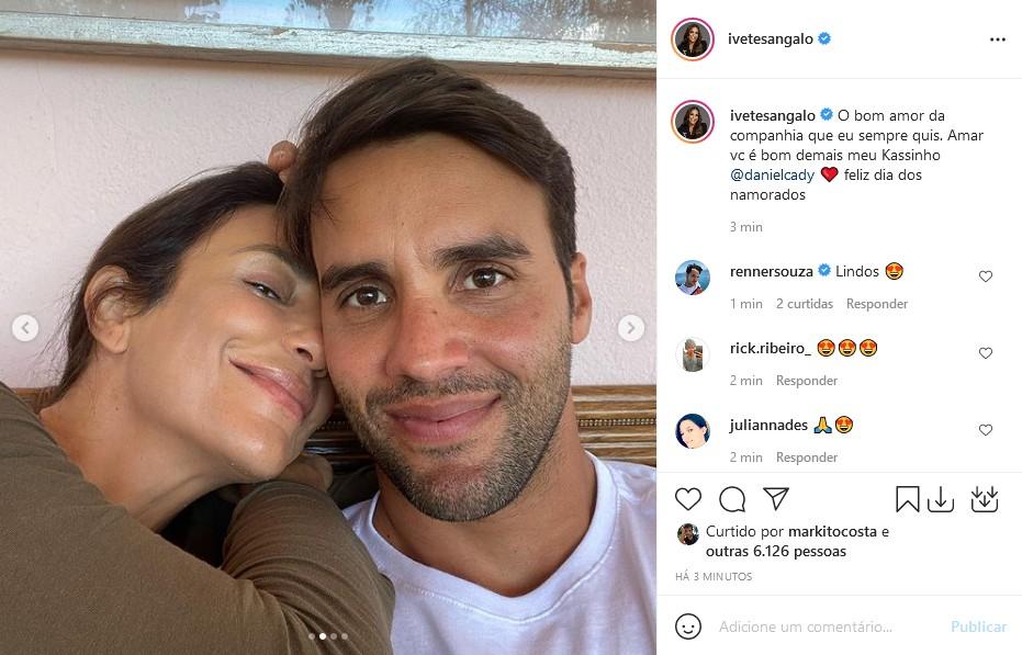 Ivete Sanngalo e Daniel Cady (Foto: Reprodução/Instagram)