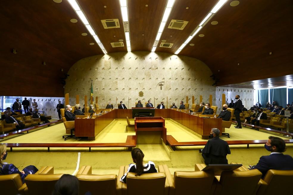 Cerimônia de posse de Luiz Fux como presidente do Supremo Tribunal Federal — Foto: Marcelo Camargo/Agência Brasil