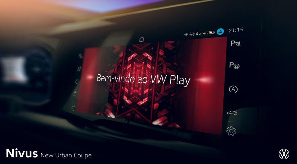 Volkswagem Nivus terá nova central multimídia e sistema 'VW play' — Foto: Divulgação
