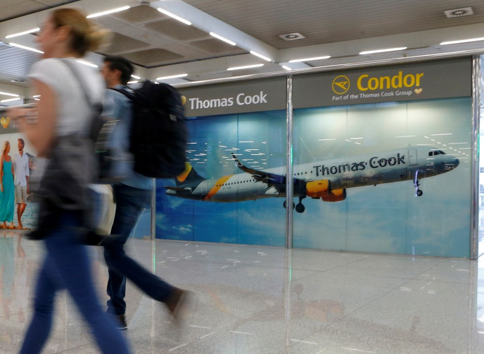 Operadora de turismo britânica Thomas Cook declara falência e afeta 600 mil clientes  — Foto: Enrique Calvo/Reuters