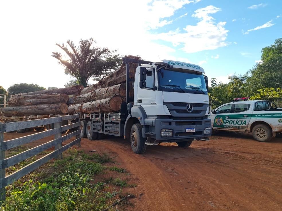 Operação do Batalhão Ambiental e Imac durou 18 dias em Acrelândia, no interior do Acre — Foto: Arquivo/Sejusp