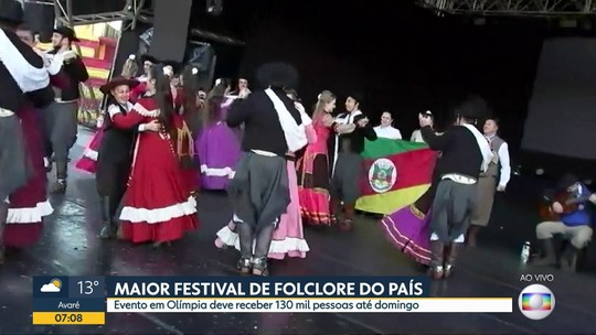 Maior Festival de Folclore do país em Olímpia