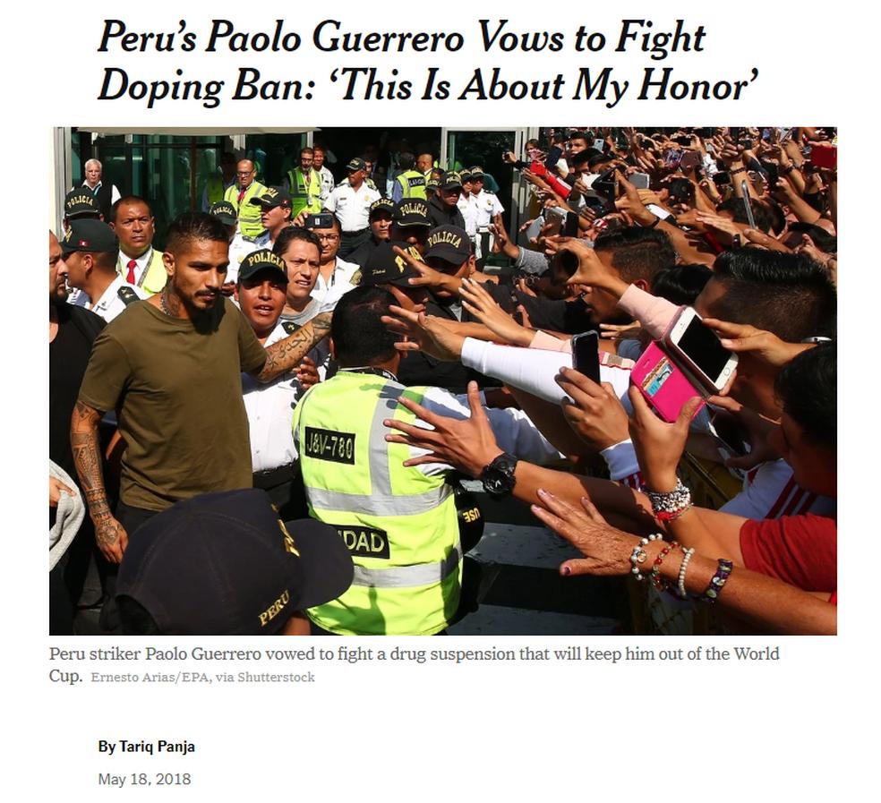 """Guerrero ganha as páginas do """"The Ney York Times"""" (Foto: Reprodução / The Ney York Times)"""