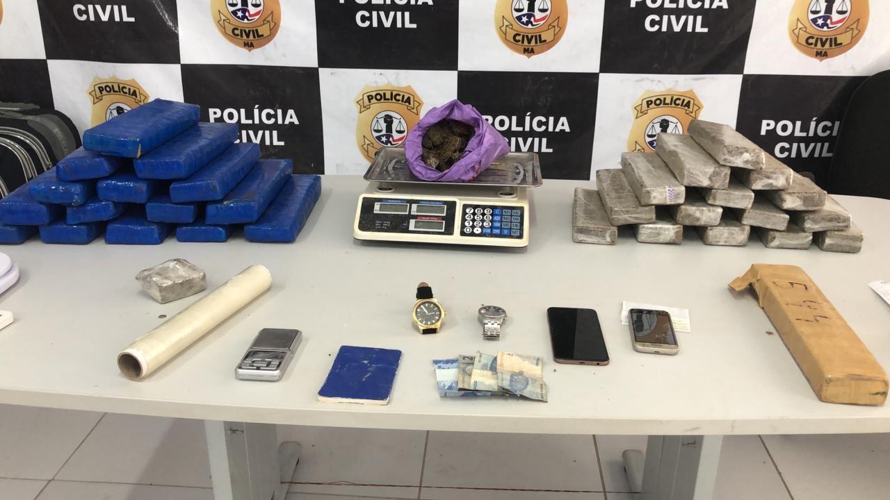 Homem é preso com 35 kg de maconha dentro de casa, em São Luís