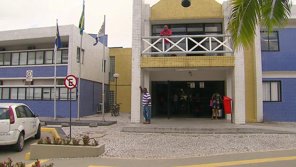 Prefeitura do Cabo de Santo Agostinho, cidade do Grande Recife, fica no Centro do município — Foto: Reprodução/TV Globo