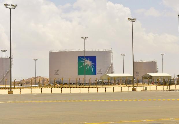Instalação da petrolífera Saudi Aramco (Foto: Divulgação/Saudi Aramco)