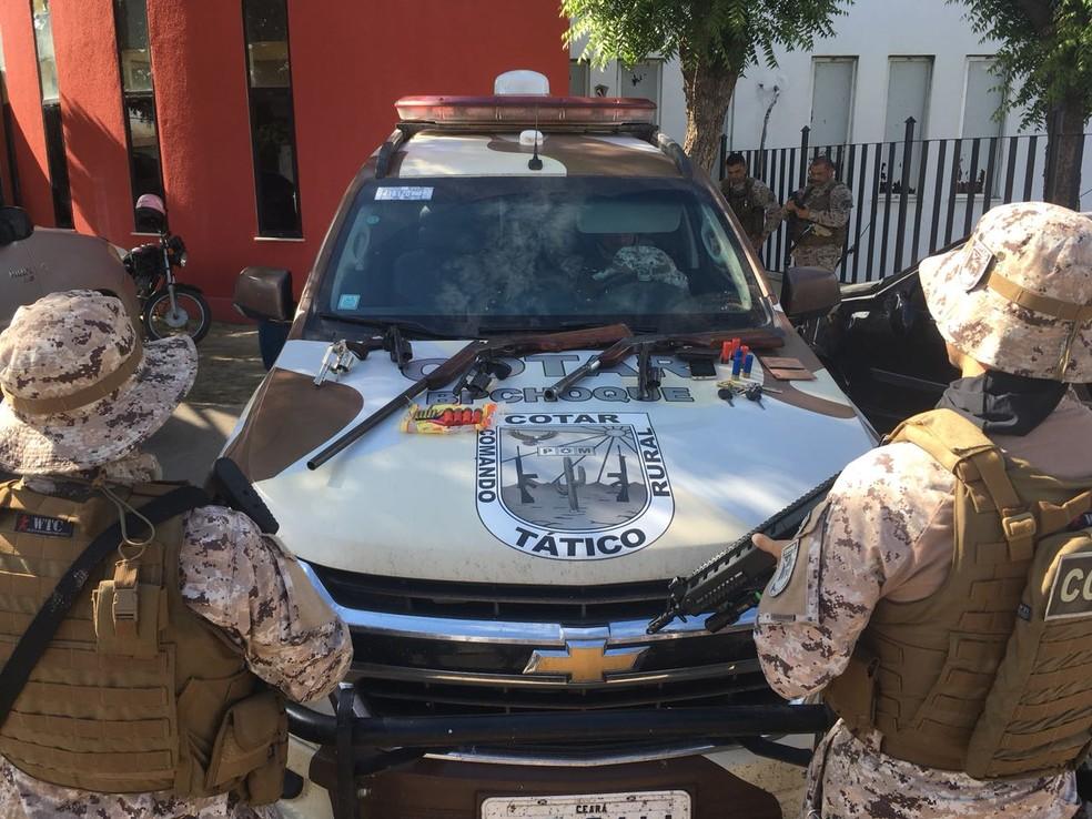 Operação desarticula quadrilha suspeita de cometer diversos crimes em Ibicuitinga (Foto: MPCE/Divulgação)