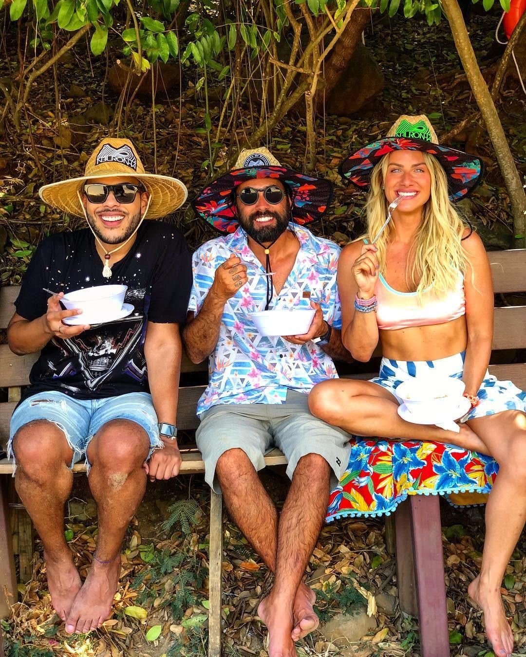 Hugo Gloss, Neuronha e Giovanna Ewbank (Foto: Reprodução Instagram)