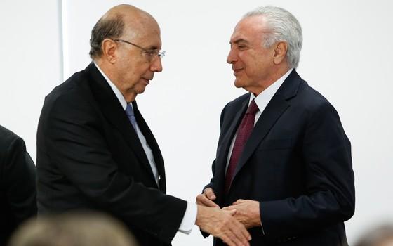 Michel Temer e Henrique Meirelles (Foto: Alan Santos/PR)