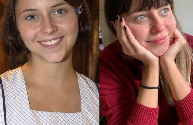 Dedicada atualmente ao teatro, Luiza Curvo viveu Cássia, jovem doce e sensível que acaba se envolvendo com Bernadete  (Foto: Reprodução)