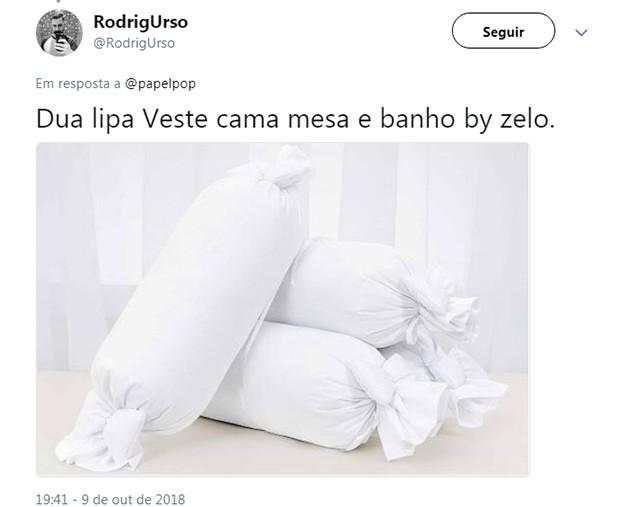 Look de Dua Lipa vira meme nas redes (Foto: Reprodução/Twitter)