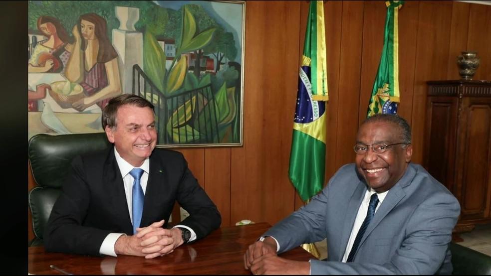 Carlos Alberto Decotelli da Silva, novo ministro da Educação, em encontro com Bolsonaro — Foto: Reprodução