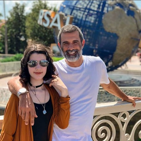 Marcos Pasquim e a filha (Foto: Reprodução/ Instagram)