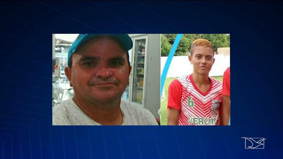 Ivanildo dos Santos e Diego Ruan morreram no acidente de ônibus na BR-226, em Barra do Corda.  (Foto: Reprodução/TV Mirante)