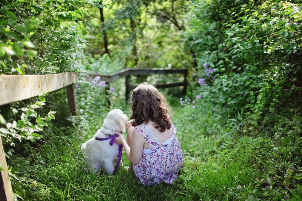 Animais auxiliam no desenvolvimento de competências e habilidades das crianças (Foto: Divulgação)