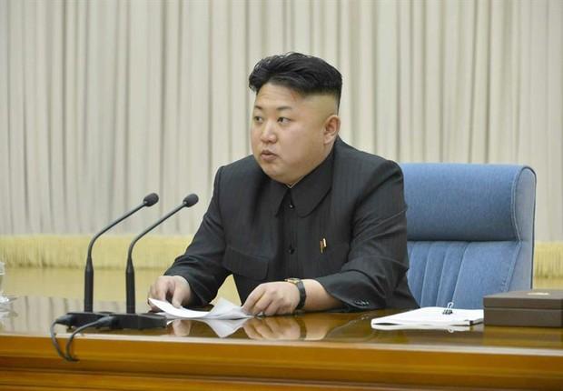 O líder da Coreia do Norte, Kim Jong-un (Foto: EFE/EPA/KCNA SOUTH KOREA OUT)
