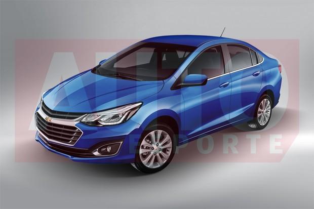 Projeção mostra que o Chevrolet Prisma de nova geração será maior e terá estilo de carro médio (Foto: João Kleber Amaral/Autoesporte)