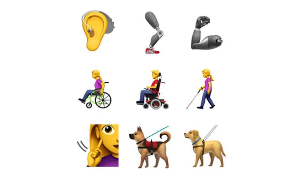 Alguns dos novos emojis propostos pela Apple (Foto: Reprodução/Unicode)