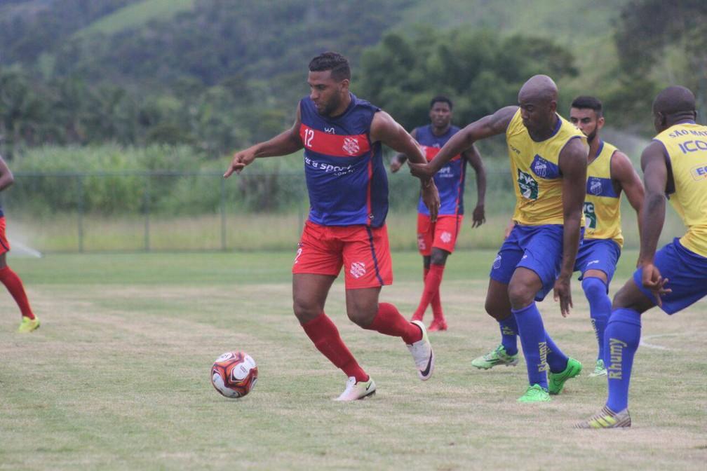 O Bangu goleou o São Mateus em jogo-treino nesta quinta-feira, em Pinheiral (Foto: João Carlos Gomes/Bangu)