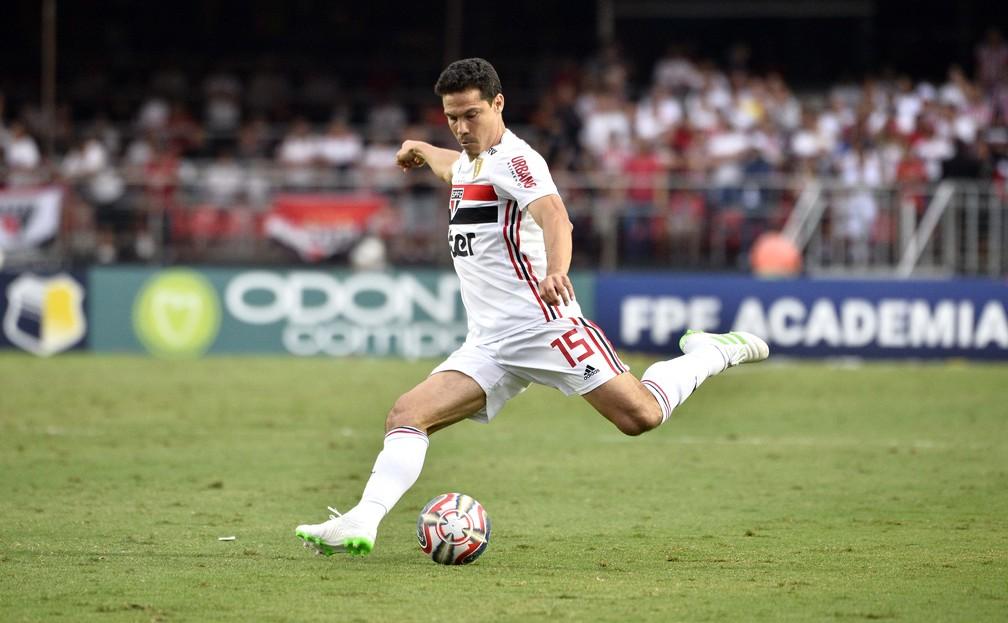 Hernanes entrou no intervalo de São Paulo x Corinthians — Foto: Marcos Ribolli