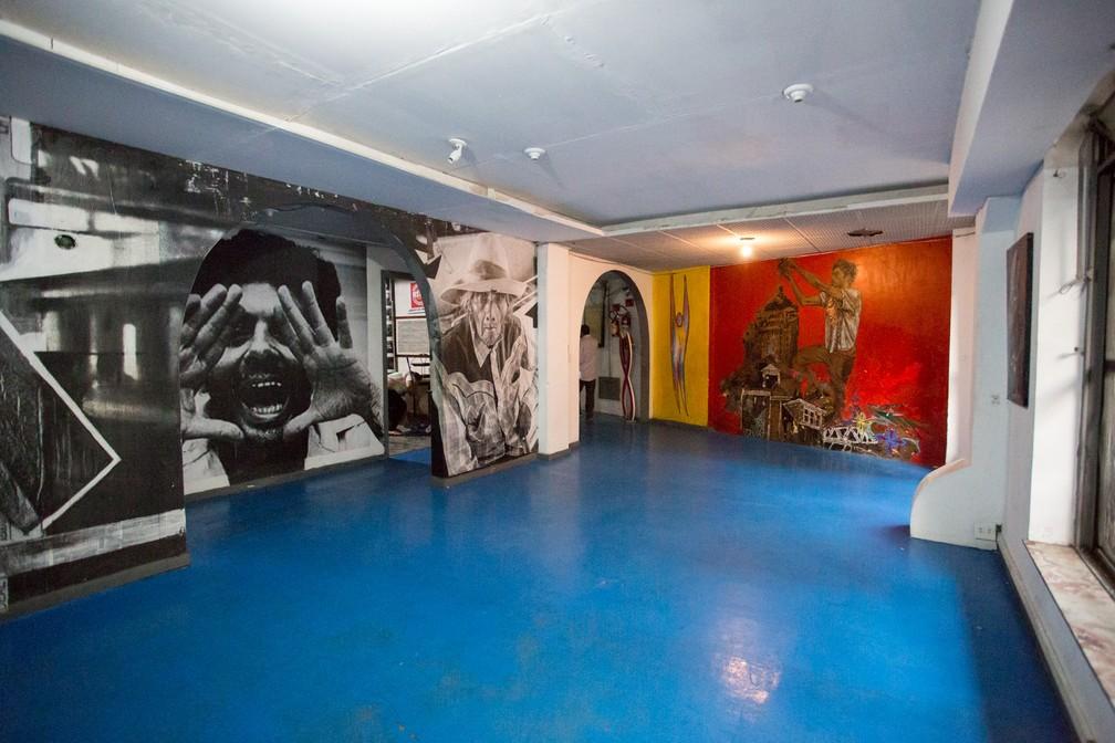 Ocupação tem espaço comunitário para saraus e eventos culturais (Foto: Marcelo Brandt/G1)