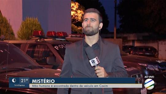 Mão é encontrada dentro de carro apreendido em Detran de município de MS