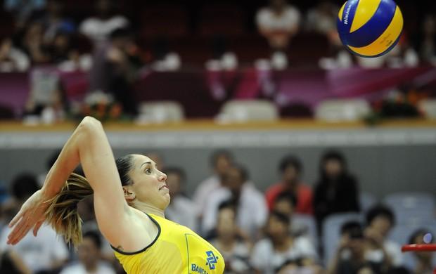 Thaisa é a maior pontuadora do Brasil diante da Turquia (Foto: Divulgação/FIVB)