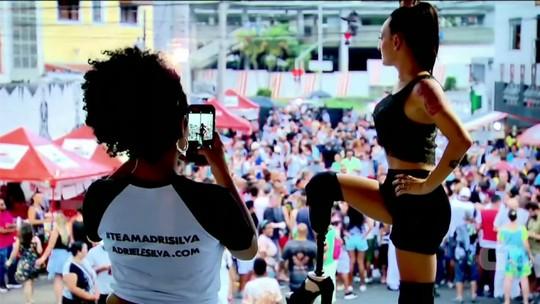 Atleta biamputada é destaque no carnaval de SP: 'Meu desafio é sambar'