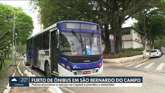 Homem é preso após furtar ônibus em São Bernardo do Campo, SP