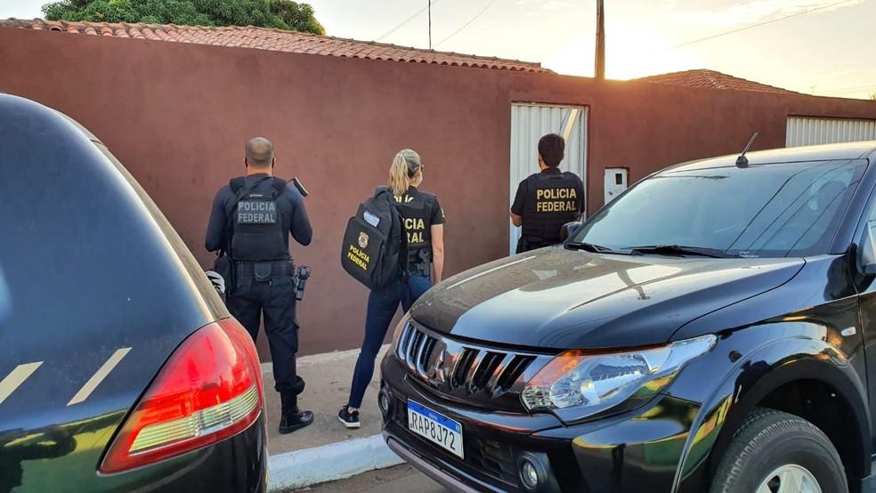Funcionários que desviavam encomendas dos Correios são alvos de operação da PF em MT — Foto: PF/MT