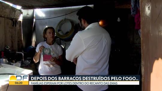 Depois de incêndio, famílias de invasão no Recanto esperam por lotes dentro da cidade