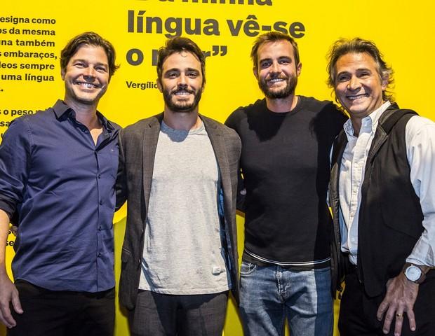 Erik Marmo, Thiago Rodrigues, Max Fercondini e Nelson Freitas (Foto: Hermes de Paula/Fundação EDP)