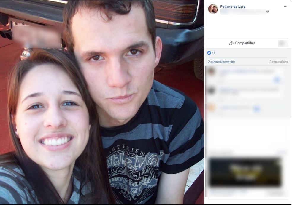 Poliana Lara, de 24 anos, e o marido dela, Lucas Buffon, de 29, morreram em acidente (Foto: Facebook/ Reprodução)