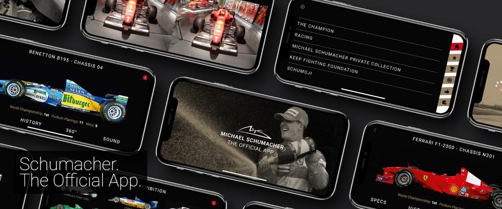 O app oficial de Michael Schumacher será lançado em 3 de janeiro — Foto: Reprodução