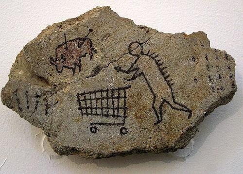"""""""Peckham Rock"""" obra de Banksy (Foto: Reprodução / Museu Britânico)"""