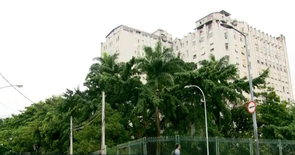 Hospital dos Servidores do Estado no Centro do Rio — Foto: Reprodução/TV Globo