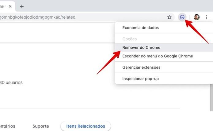 Removendo uma extensão do Chrome (Foto: Reprodução/Helito Bijora)