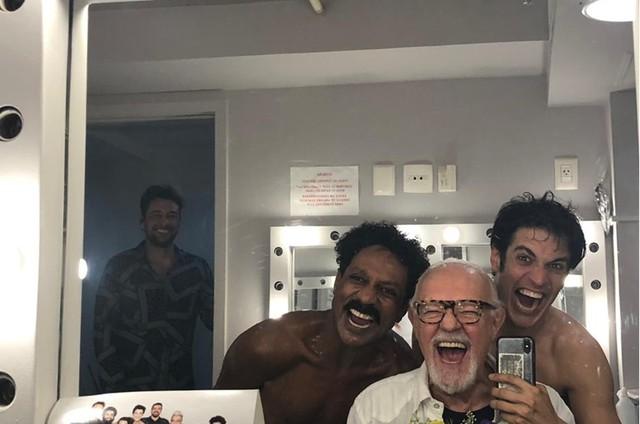 Ney Latorraca com Luis Miranda e Mateus Solano (Foto: Arquivo pessoal)