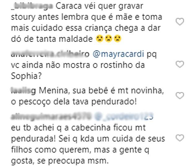 Fãs criticam Mayra  (Foto: Reprodução)