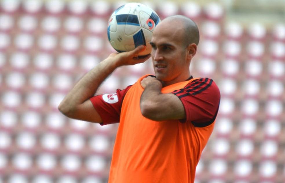 Andreutti fazendo o que mais gosta: jogar futebol (Foto: Divulgação/Deportivo Lara)