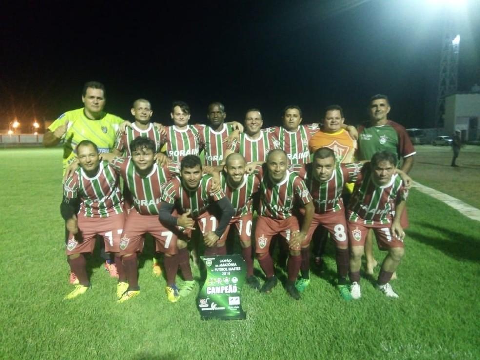 Veteranos do Tricolor da Mecejana conquistaram a 1ª edição da competição (Foto: Arquivo Pessoal)