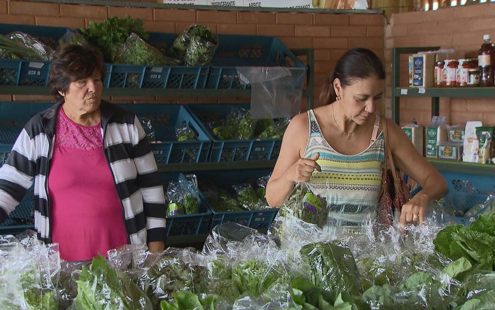 Feira de produtos orgânicos no Distrito Federal (Foto: TV Globo/Reprodução)